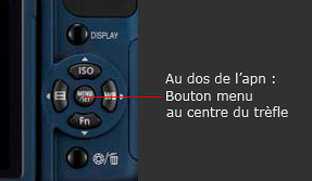 bouton menu Panasonic