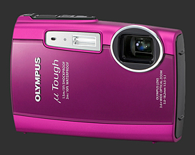 Olympus mju Tough 3000 rose framboise