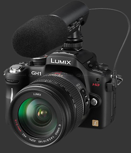 panasonic GH1 et son micro