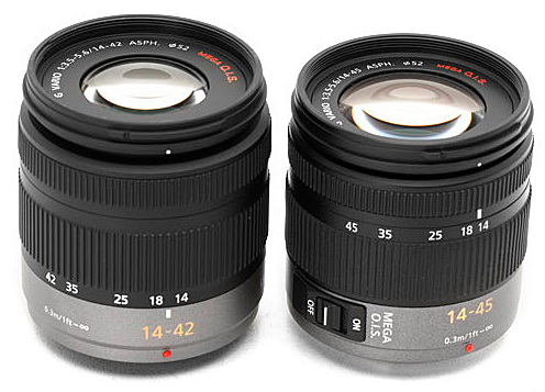 Panasonic zooms 14-45 et 14-42